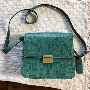Teal Leather Cynthia Rowley Shoulder Bag NWOT
